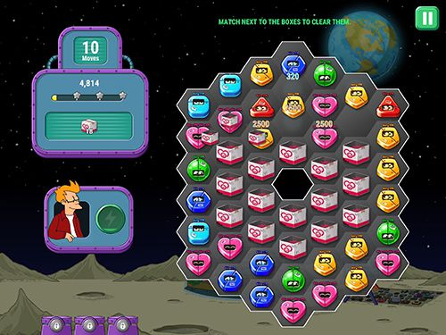 Screenshots of the Futurama: Game of drones game for iPhone, iPad or iPod.