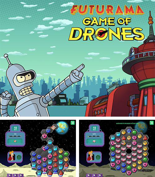 除了 iPhone、iPad 或 iPod 游戏,您还可以免费下载Futurama: Game of drones, 。