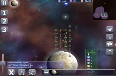 Screenshots of the Galactic Conflict game for iPhone, iPad or iPod.