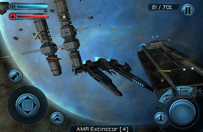 Screenshots vom Spiel Galaxy on Fire 2 für iPhone, iPad oder iPod.