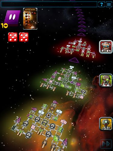 Screenshots of the Galaxy trucker game for iPhone, iPad or iPod.
