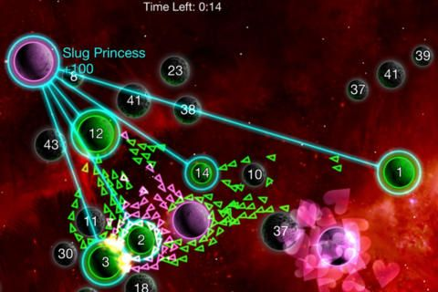 Screenshots of the Galcon legends game for iPhone, iPad or iPod.