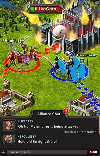Screenshots of the Game of war: Fire age game for iPhone, iPad or iPod.