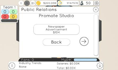 Capturas de pantalla del juego Game studio tycoon 2 para iPhone, iPad o iPod.