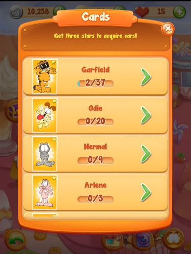 Écrans du jeu Garfield chef: Game of food pour iPhone, iPad ou iPod.