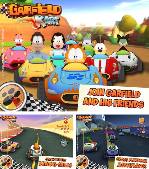 Descarga gratuita del juego Karting con Garfield luchadores para iPhone.
