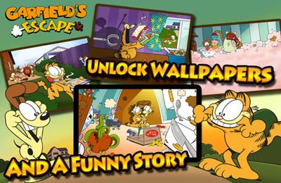 Screenshots of the Garfield's Escape game for iPhone, iPad or iPod.