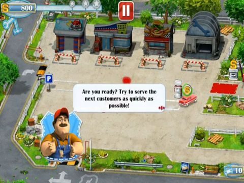 Screenshots vom Spiel Gas Station – Rush Hour! für iPhone, iPad oder iPod.