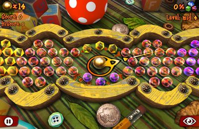 Screenshots vom Spiel Gather the Gems! für iPhone, iPad oder iPod.