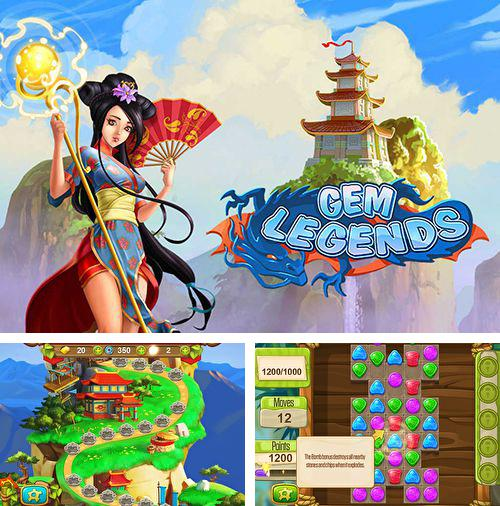 除了 iPhone、iPad 或 iPod 游戏,您还可以免费下载Gem legends: Match 3, 。