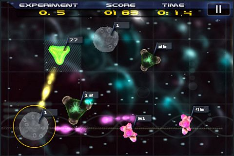 Screenshots of the Gene labs game for iPhone, iPad or iPod.