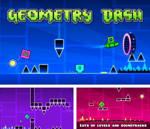In addition to the game Run, Vova, Run for iPhone, iPad or iPod, you can also download Geometry dash for free.
