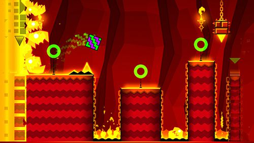 Screenshots vom Spiel Geometry dash: Meltdown für iPhone, iPad oder iPod.
