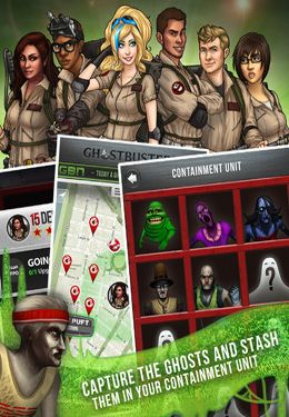Capturas de pantalla del juego Ghostbusters Paranormal Blast para iPhone, iPad o iPod.