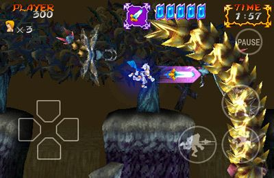 iPhone、iPad または iPod 用Ghosts'n Goblins Gold Knightsゲームのスクリーンショット。