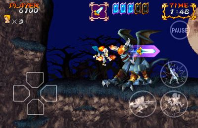 Screenshots vom Spiel Ghosts'n Goblins Gold Knights für iPhone, iPad oder iPod.