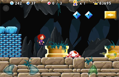 Screenshots of the Giana Sisters game for iPhone, iPad or iPod.