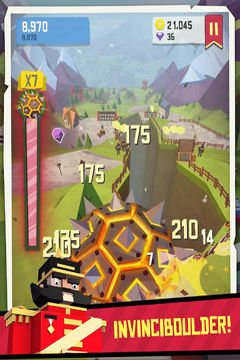 Capturas de pantalla del juego Giant Boulder of Death para iPhone, iPad o iPod.