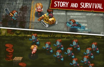 Screenshots of the Girl vs. Zombies game for iPhone, iPad or iPod.