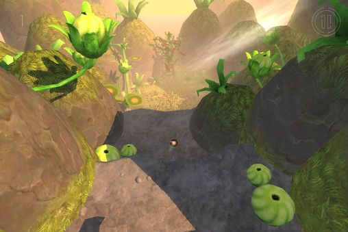 iPhone、iPad または iPod 用Globosome: Path of the swarmゲームのスクリーンショット。