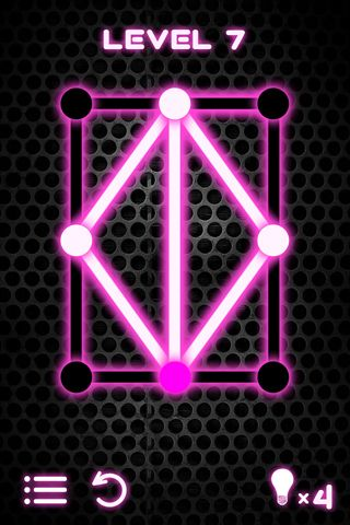Screenshots of the Glow puzzle game for iPhone, iPad or iPod.