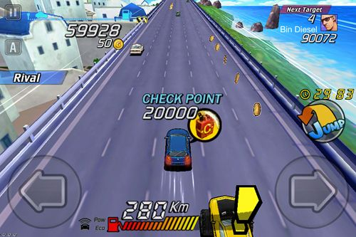 Capturas de pantalla del juego Go! Go! Go!: Racer para iPhone, iPad o iPod.