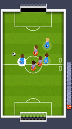 Screenshots of the Goal finger game for iPhone, iPad or iPod.
