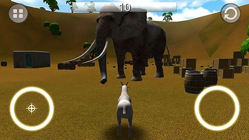 Screenshots of the Goat rampage game for iPhone, iPad or iPod.