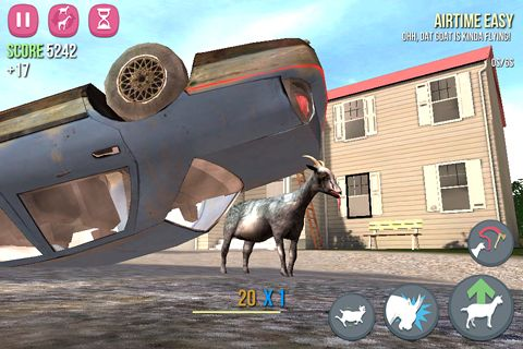 Screenshots do jogo Goat simulator para iPhone, iPad ou iPod.