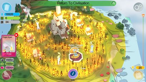 Screenshots of the Godus game for iPhone, iPad or iPod.