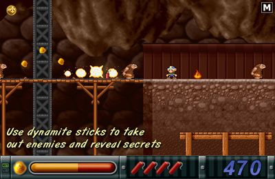 Screenshots of the Gold Miner Joe game for iPhone, iPad or iPod.