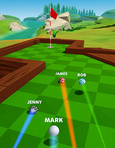 Screenshots do jogo Golf battle para iPhone, iPad ou iPod.
