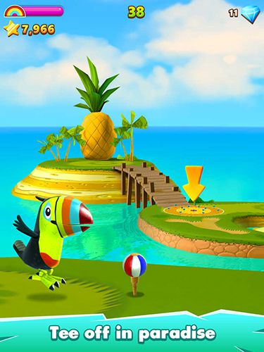 Screenshots of the Golf island game for iPhone, iPad or iPod.