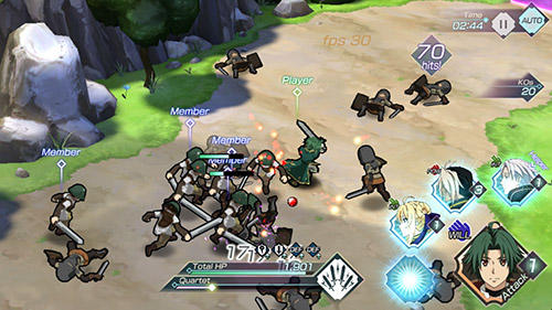 iPhone、iPad または iPod 用Grancrest war: Quartet conflictゲームのスクリーンショット。