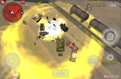 iPhone、iPad または iPod 用Grand Theft Auto: Chinatown Warsゲームのスクリーンショット。