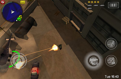 Écrans du jeu Grand Theft Auto: Chinatown Wars pour iPhone, iPad ou iPod.