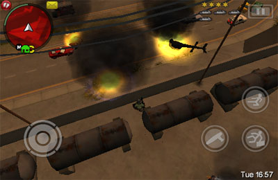 iPhone、iPad 或 iPod 版Grand Theft Auto: Chinatown Wars游戏截图。