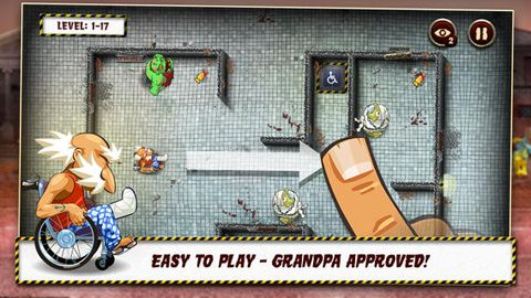 Kostenloser Download von Grandpa and the zombies: Take care of your brain! für iPhone, iPad und iPod.