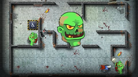 iPhone、iPad または iPod 用Grandpa and the zombies: Take care of your brain!ゲームのスクリーンショット。