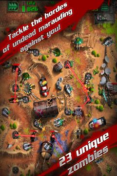 Screenshots of the GRave Defense game for iPhone, iPad or iPod.