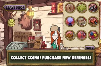 Free Gravity Falls Mystery Shack Attack download for iPhone, iPad and iPod.