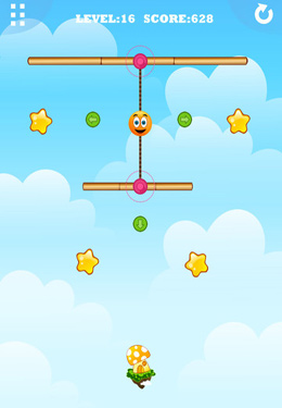 Capturas de pantalla del juego Gravity Orange 2 para iPhone, iPad o iPod.