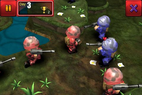 Écrans du jeu Great little war game pour iPhone, iPad ou iPod.