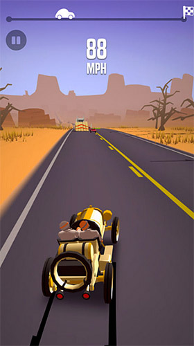 iPhone、iPad 或 iPod 版Great race: Route 66游戏截图。