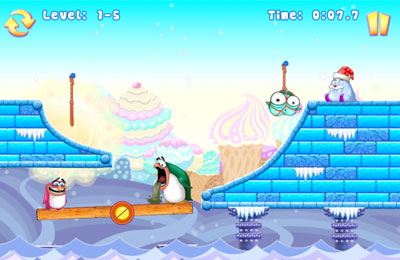 Screenshots of the Greedy Penguins game for iPhone, iPad or iPod.