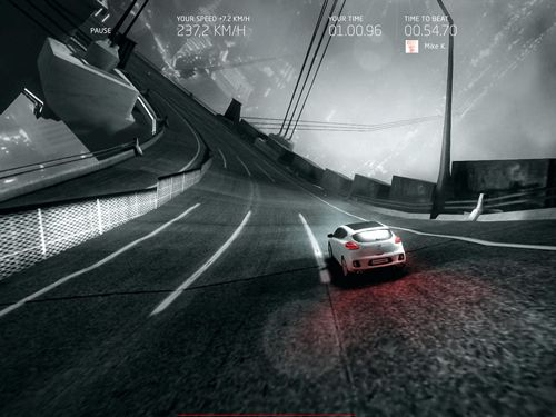 Screenshots of the GT ride game for iPhone, iPad or iPod.