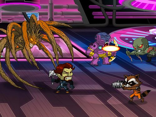 Скриншот игры Guardians of the Galaxy: The universal weapon на Айфон.