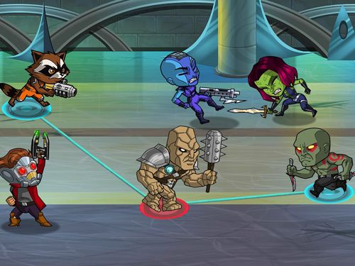 Screenshots vom Spiel Guardians of the Galaxy: The universal weapon für iPhone, iPad oder iPod.