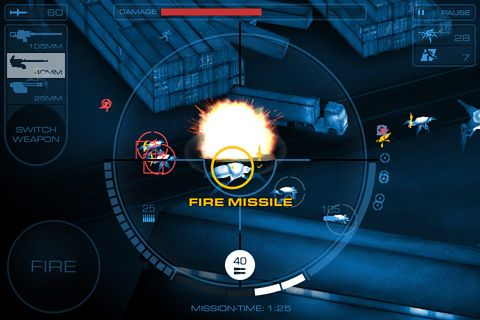 Screenshots of the Gunship X game for iPhone, iPad or iPod.