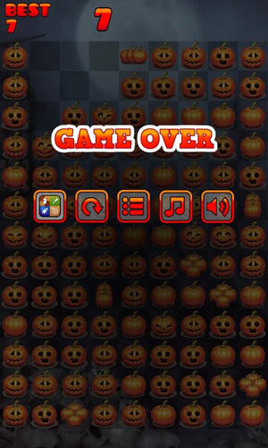 Screenshots of the Halloween Pop Mania game for iPhone, iPad or iPod.